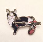 SNAP Cats Scooter Mascot Enamel Pin  NEW