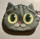 Cute furry cat coin purse NEW